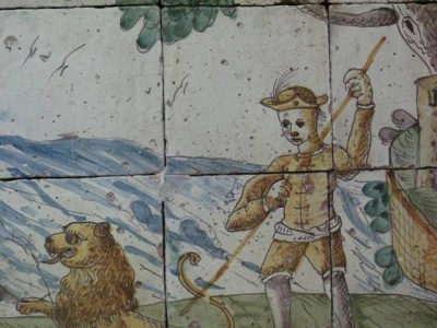 historical_majolica_tile_man_dog_small_400
